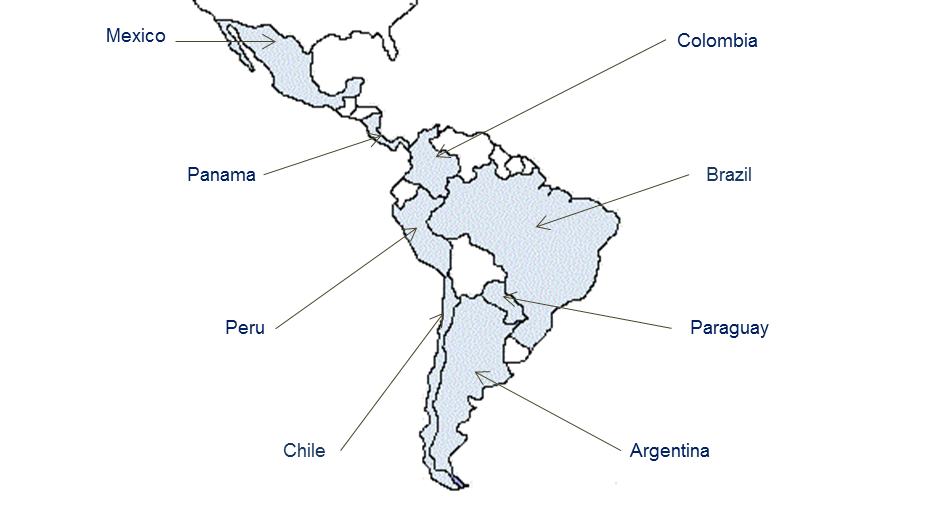 GBO's network in South America includes Mexico, Brazil, Argentina, Chile, Colombia, Peru, Paraguay, and Panama.
